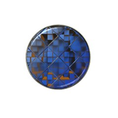 Glass Abstract Art Pattern Hat Clip Ball Marker (4 pack)