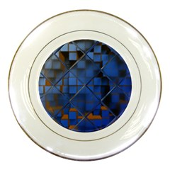 Glass Abstract Art Pattern Porcelain Plates