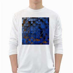 Glass Abstract Art Pattern White Long Sleeve T-Shirts