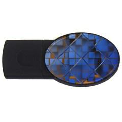Glass Abstract Art Pattern USB Flash Drive Oval (4 GB)