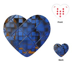 Glass Abstract Art Pattern Playing Cards (Heart)