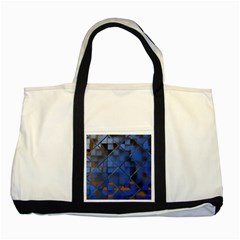 Glass Abstract Art Pattern Two Tone Tote Bag