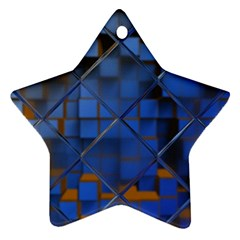 Glass Abstract Art Pattern Star Ornament (Two Sides)