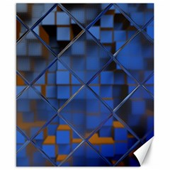Glass Abstract Art Pattern Canvas 8  x 10