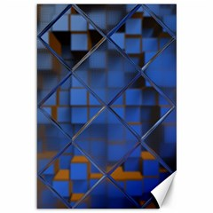 Glass Abstract Art Pattern Canvas 12  x 18