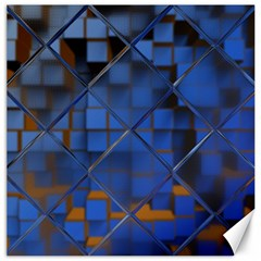 Glass Abstract Art Pattern Canvas 16  x 16