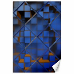Glass Abstract Art Pattern Canvas 24  X 36
