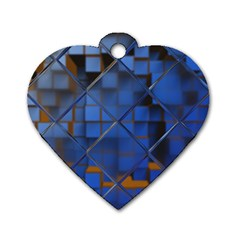 Glass Abstract Art Pattern Dog Tag Heart (Two Sides)