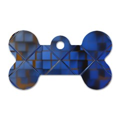 Glass Abstract Art Pattern Dog Tag Bone (Two Sides)