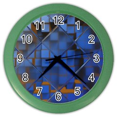 Glass Abstract Art Pattern Color Wall Clocks