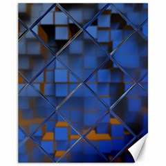 Glass Abstract Art Pattern Canvas 11  X 14