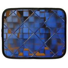 Glass Abstract Art Pattern Netbook Case (large)