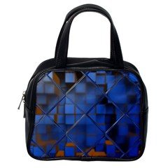 Glass Abstract Art Pattern Classic Handbags (One Side)