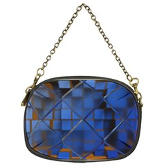 Glass Abstract Art Pattern Chain Purses (One Side)