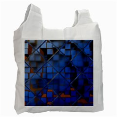Glass Abstract Art Pattern Recycle Bag (two Side)