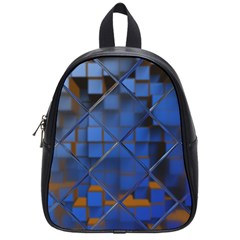 Glass Abstract Art Pattern School Bags (small)