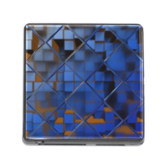 Glass Abstract Art Pattern Memory Card Reader (square)
