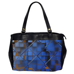 Glass Abstract Art Pattern Office Handbags (2 Sides)