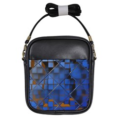 Glass Abstract Art Pattern Girls Sling Bags
