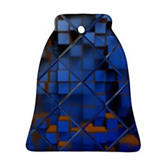 Glass Abstract Art Pattern Bell Ornament (Two Sides)