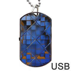 Glass Abstract Art Pattern Dog Tag USB Flash (One Side)