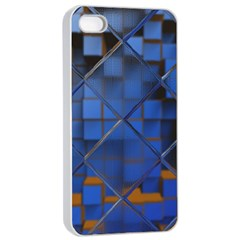 Glass Abstract Art Pattern Apple iPhone 4/4s Seamless Case (White)