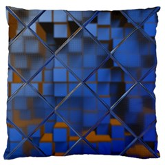 Glass Abstract Art Pattern Large Cushion Case (two Sides)