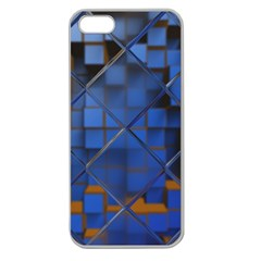 Glass Abstract Art Pattern Apple Seamless iPhone 5 Case (Clear)