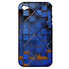 Glass Abstract Art Pattern Apple iPhone 4/4S Hardshell Case (PC+Silicone)