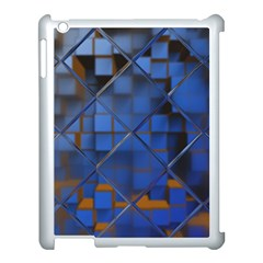 Glass Abstract Art Pattern Apple iPad 3/4 Case (White)