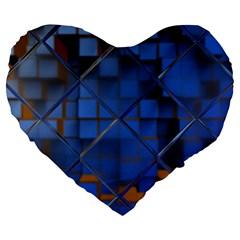 Glass Abstract Art Pattern Large 19  Premium Heart Shape Cushions