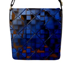 Glass Abstract Art Pattern Flap Messenger Bag (l)