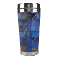 Glass Abstract Art Pattern Stainless Steel Travel Tumblers