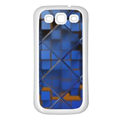 Glass Abstract Art Pattern Samsung Galaxy S3 Back Case (White)