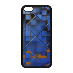 Glass Abstract Art Pattern Apple Iphone 5c Seamless Case (black)