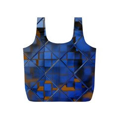 Glass Abstract Art Pattern Full Print Recycle Bags (S)