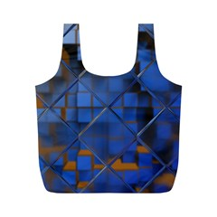 Glass Abstract Art Pattern Full Print Recycle Bags (M)
