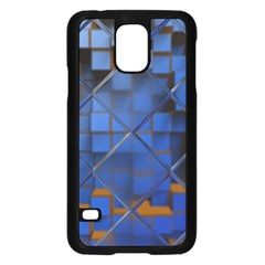 Glass Abstract Art Pattern Samsung Galaxy S5 Case (Black)