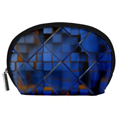 Glass Abstract Art Pattern Accessory Pouches (large)