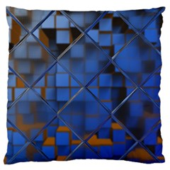 Glass Abstract Art Pattern Large Flano Cushion Case (Two Sides)