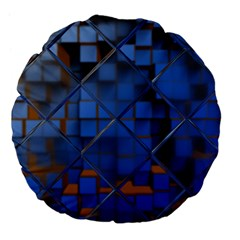 Glass Abstract Art Pattern Large 18  Premium Flano Round Cushions