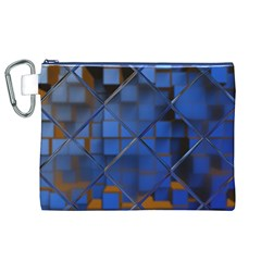 Glass Abstract Art Pattern Canvas Cosmetic Bag (XL)
