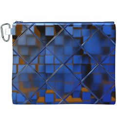 Glass Abstract Art Pattern Canvas Cosmetic Bag (XXXL)