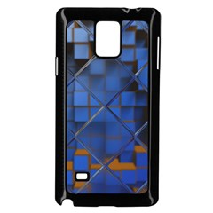 Glass Abstract Art Pattern Samsung Galaxy Note 4 Case (Black)
