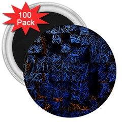 Background Abstract Art Pattern 3  Magnets (100 pack)