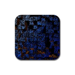 Background Abstract Art Pattern Rubber Square Coaster (4 pack)