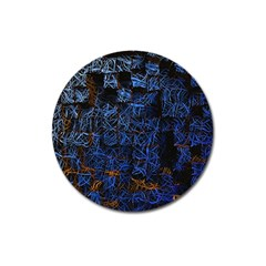 Background Abstract Art Pattern Magnet 3  (round)