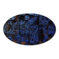 Background Abstract Art Pattern Oval Magnet