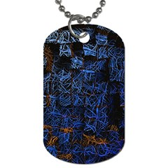 Background Abstract Art Pattern Dog Tag (one Side)