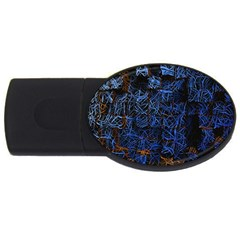 Background Abstract Art Pattern USB Flash Drive Oval (2 GB)